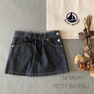 PETIT BATEAU - PETIT BATEAU|プチバトー✬フレンチ デニムスカート*̩̩̥୨୧˖