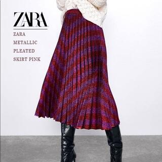 ZARA - ZARA ザラ プリーツスカート ラメ
