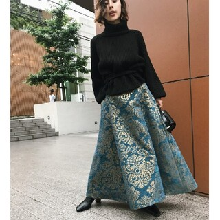 Ameri VINTAGE - ameri vintage ダマスクスカート
