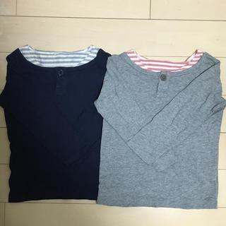 ムジルシリョウヒン(MUJI (無印良品))の無印良品 MUJI 重ね着風カットソー 110 2枚セット(Tシャツ/カットソー)