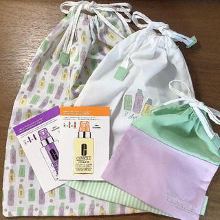 クリニーク(CLINIQUE)のクリニーク◆親子巾着3枚セット 美容液おまけつき(ポーチ)