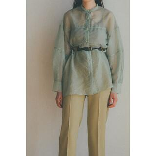 BEAUTY&YOUTH UNITED ARROWS - CLANE SWITCH SHEER SHIRT ミント