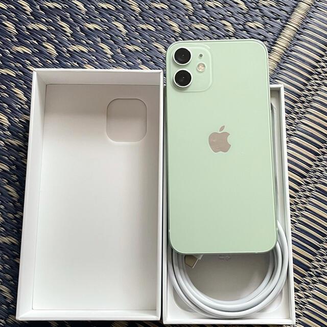 Apple(アップル)のiPhone12 mini 256GB  グリーン色 スマホ/家電/カメラのスマートフォン/携帯電話(スマートフォン本体)の商品写真