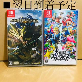 Nintendo Switch - 2台 ●モンスターハンターライズ ●スマッシュブラザーズ
