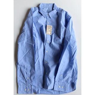 MUJI (無印良品) - ブロードシャツ スカイブルー オーガニックコットン