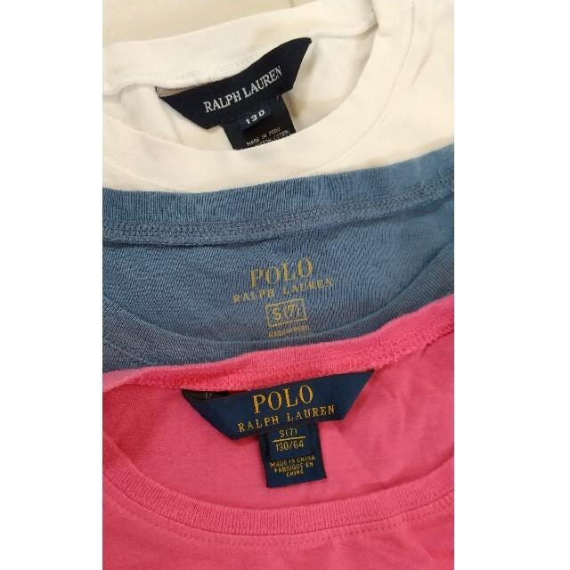 Ralph Lauren(ラルフローレン)のラルフローレン Tシャツ 3枚セット キッズ/ベビー/マタニティのキッズ服女の子用(90cm~)(Tシャツ/カットソー)の商品写真