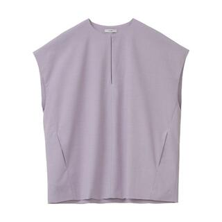 BEAUTY&YOUTH UNITED ARROWS - CLANE SOLID FORM TOPS パープル