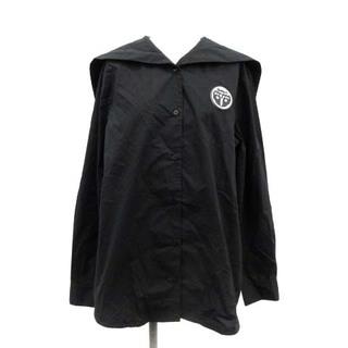 エムエムシックス(MM6)のエムエムシックス メゾンマルジェラ 20SS シャツ ブラウス 42 M 黒(シャツ/ブラウス(長袖/七分))