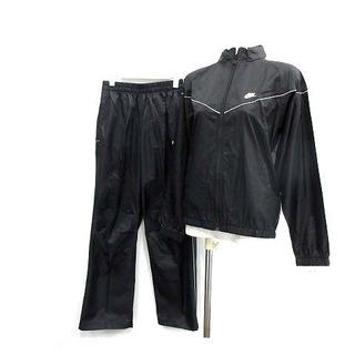 ナイキ(NIKE)のナイキ ジャケット セットアップ 上下 ジップアップ イージーパンツ L 黒(ブルゾン)