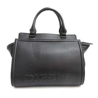 DIESEL - ディーゼル DIESEL ハンドバッグ ロゴ レザー 黒 ブラック