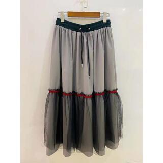 カラー(kolor)のKOLOR Junichi Abe ロングスカート チュール 継接ぎ サイズ M(ロングスカート)