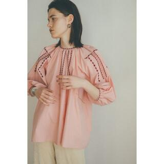 BEAUTY&YOUTH UNITED ARROWS - CLANE SMOCK EMBROIDERY PUFF TOPS PK