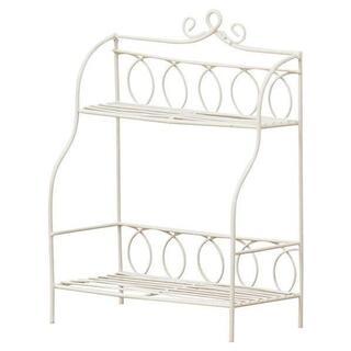 新品■ワイヤーミニシェルフA白ホワイトワイヤー収納棚インテリアディスプレイ飾り棚