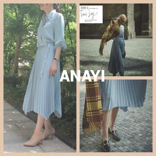 ANAYI - ANAYI マットサテンプリーツワンピース