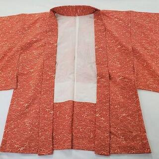 羽織 未使用 黄赤色 竹 梅 紅葉 菊 和模様 着物 和モダン DT-1(着物)