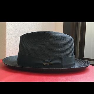 ステットソン 麦わら帽子 黒