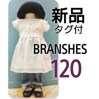 Branshes - 新品 タグ付 branshes ブランシェス胸元レース ワンピース