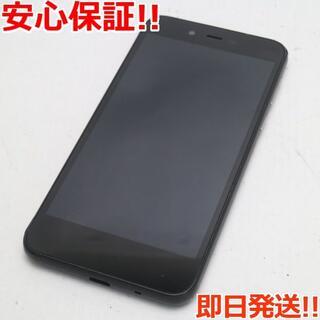 シャープ(SHARP)の美品 702SH AQUOS sense basic ブラック (スマートフォン本体)