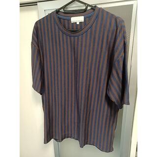 アバハウス(ABAHOUSE)のアバハウス ストライプオーバーサイズTシャツ 46(Tシャツ/カットソー(半袖/袖なし))