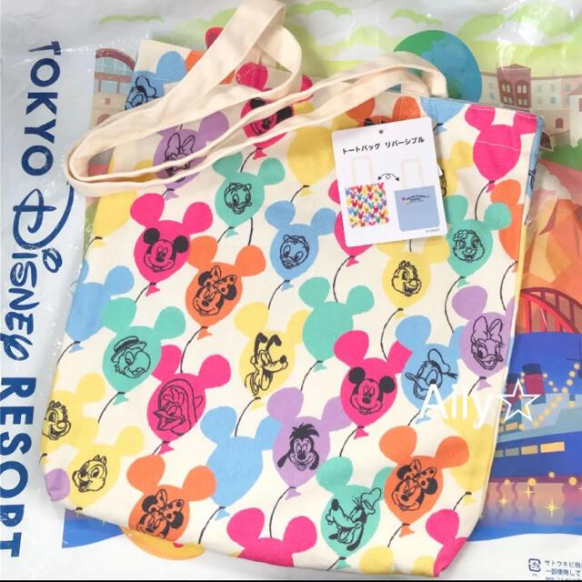 Disney(ディズニー)の新作♡ ミッキー  バルーン  トートバッグ ディズニーリゾート レディースのバッグ(トートバッグ)の商品写真