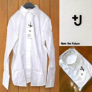 UNIQLO - 半額中★+J レア新品L*スリムフィットシャツ白ラス1