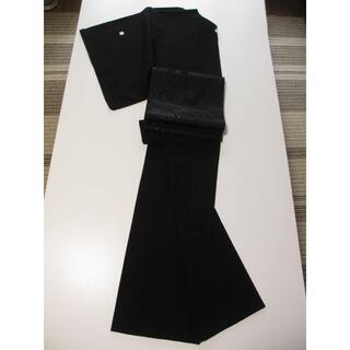 偲ぶ想い お仕立て上がり 漆黒 高級 喪服 絹100% 反物 1kg 送料無料(着物)