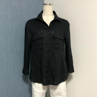 GALLARDA GALANTE - COLLAGE GALLARDAGALANTE ブラックリネン 七分袖のシャツ