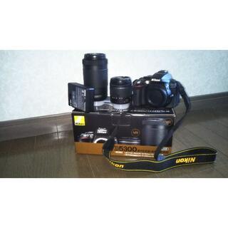 Nikon◆デジタル一眼カメラ D5300 AF-P ダブルズームキット +カメ