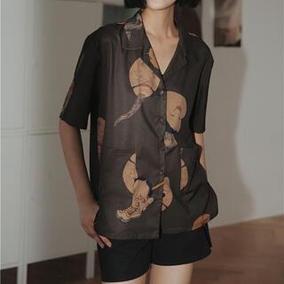 トウヨウエンタープライズ(東洋エンタープライズ)の鬼 能面 日本 シャツ(シャツ/ブラウス(半袖/袖なし))