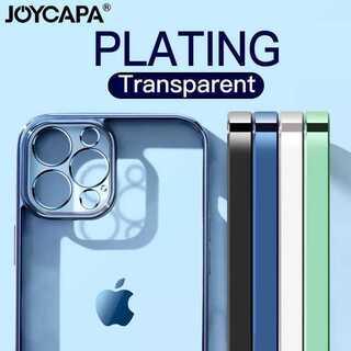 大人気!クリア 透明 メタリック シンプル iPhone ケース スマホケース(iPhoneケース)