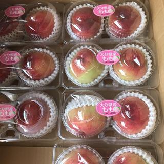 大分県の桃 6個入り 1,2キロ。(フルーツ)