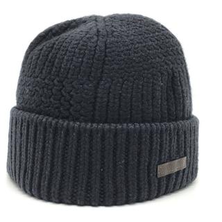 ルイヴィトン(LOUIS VUITTON)のルイヴィトン ロゴ タグ ビーニー ニット帽 アパレル ネイビー(ニット帽/ビーニー)