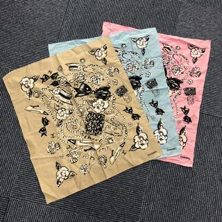 CHANEL - 3枚セット CHANEL シャネル ロゴ ハンカチ スカーフ