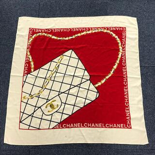 シャネル(CHANEL)のCHANEL シャネル マトラッセ柄 ロゴ シルク スカーフ(バンダナ/スカーフ)