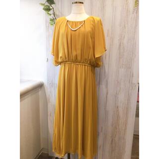 大きいサイズ15号以上 マタニティ 結婚式ドレス 3L(ミディアムドレス)
