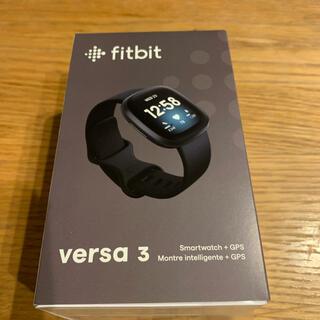 Apple Watch - Fitbit Versa3 黒(おまけ付き)
