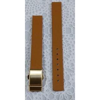 アルバ(ALBA)の商品NO.198★ラグ幅12mm【新品】ALBA純正バックル式牛革茶色ベルト(腕時計)