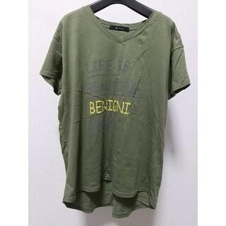 ジョンブル(JOHNBULL)のJohnbull プリント 半袖Tシャツ フリーサイズ カーキ ジョンブル 古着(Tシャツ/カットソー(半袖/袖なし))