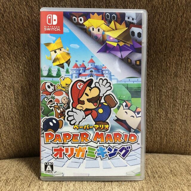 Nintendo Switch(ニンテンドースイッチ)の【値下げしました】ペーパーマリオ オリガミキング Switch エンタメ/ホビーのゲームソフト/ゲーム機本体(家庭用ゲームソフト)の商品写真