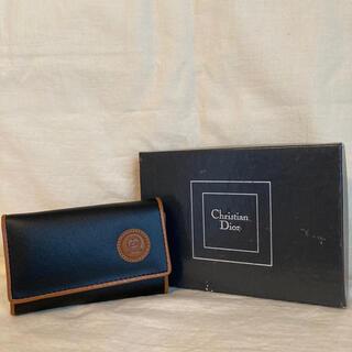 クリスチャンディオール(Christian Dior)のDior クリスチャン ディオール 三つ折り キーケース レザー ブラック 黒(キーケース)
