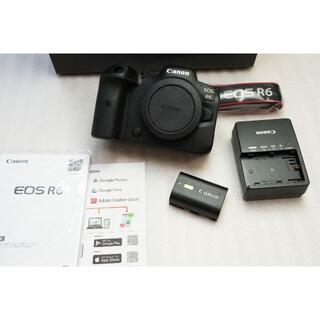 Canon - 保証有 新品同様 EOS R6 シャッター枚数少ない 完動品 CANON