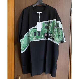 マルタンマルジェラ(Maison Martin Margiela)の50新品 メゾン マルジェラ オーバーサイズ Mother Tシャツ  ブラック(Tシャツ/カットソー(半袖/袖なし))