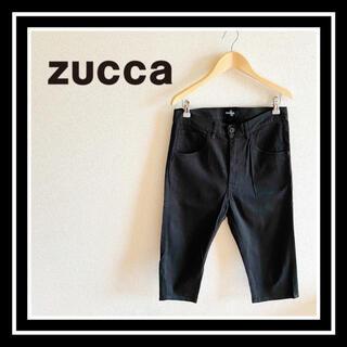 ズッカ(ZUCCa)の【日本製】ZUCCa(ズッカ) ブラックハーフパンツ 美品 黒 夏 S 美品(ハーフパンツ)