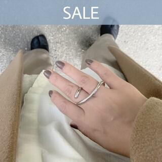 Ameri VINTAGE - 【NEW】925 double finger ring *