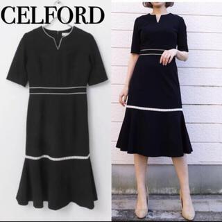 FOXEY - セルフォード CELFORD celford   ワンピース 36 黒 S