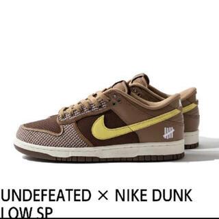 アンディフィーテッド(UNDEFEATED)のUndefeated × Nike Dunk LowSP Brown28.5cm(スニーカー)