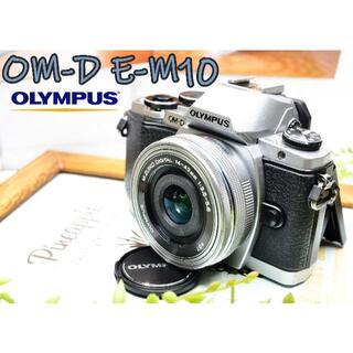 オリンパス(OLYMPUS)の✨オリンパスの上級ミラーレス✨手ぶれ補正+スマホ転送✨OM-D E-M10(ミラーレス一眼)