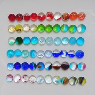 琉球ガラス ドロップス ナギット 60粒 約5~7㎜ 虹色 なないろ 1
