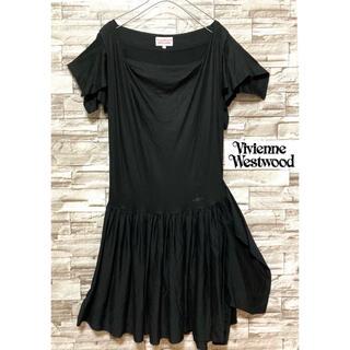Vivienne Westwood - ヴィヴィアンウエストウッド 膝丈ワンピース 美品 アシンメトリー ブラック