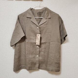 MUJI (無印良品) - タグ付き 無印良品 オーガニックリネン洗いざらし 開襟半袖シャツ M~L
